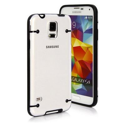 Microsonic Hybrid Transparant Samsung Galaxy S5 Kılıf Siyah Cep Telefonu Kılıfı