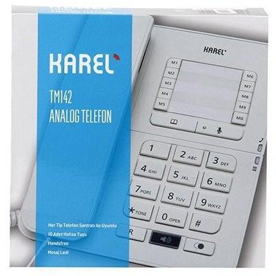 Karel TM142 Masaüstü Telefon - Krem