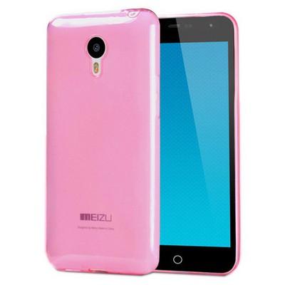 Microsonic Transparent Soft Meizu Mx4 Kılıf Pembe Cep Telefonu Kılıfı