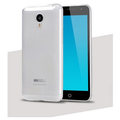 Microsonic Transparent Soft Meizu Mx4 Kılıf Beyaz Cep Telefonu Kılıfı