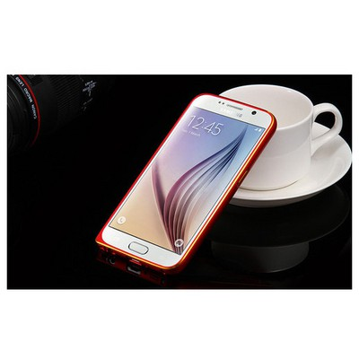 Microsonic Derili Metal Delüx Samsung Galaxy S6 Kılıf Kırmızı Cep Telefonu Kılıfı