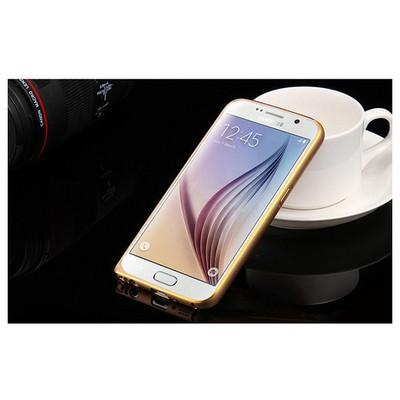 Microsonic Derili Metal Delüx Samsung Galaxy S6 Kılıf Kahverengi Cep Telefonu Kılıfı