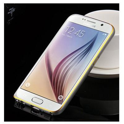 Microsonic Derili Metal Delüx Samsung Galaxy S6 Kılıf Beyaz Cep Telefonu Kılıfı