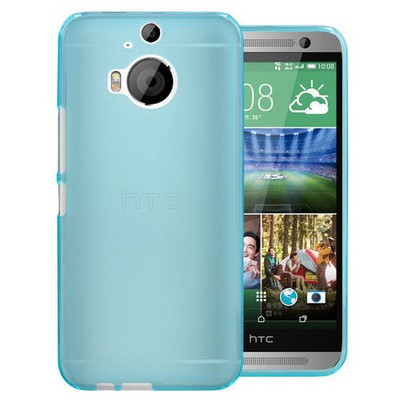 Microsonic Transparent Soft Htc One M9+ Plus Kılıf Mavi Cep Telefonu Kılıfı