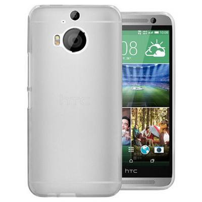 Microsonic Transparent Soft Htc One M9+ Plus Kılıf Beyaz Cep Telefonu Kılıfı