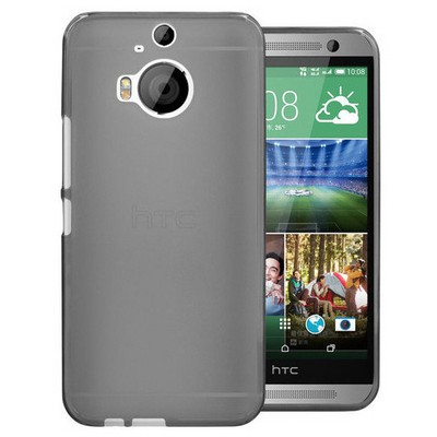 Microsonic Transparent Soft Htc One M9+ Plus Kılıf Siyah Cep Telefonu Kılıfı