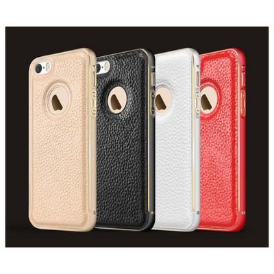 Microsonic Derili Metal Delüx Iphone 5s Kılıf Kırmızı Cep Telefonu Kılıfı