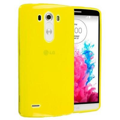 Microsonic Transparent Soft Lg G3 Kılıf Sarı Cep Telefonu Kılıfı