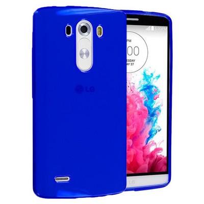 Microsonic Transparent Soft Lg G3 Kılıf Mavi Cep Telefonu Kılıfı
