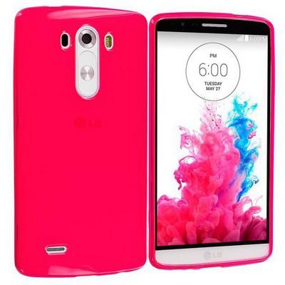 Microsonic Transparent Soft Lg G3 Kılıf Kırmızı Cep Telefonu Kılıfı