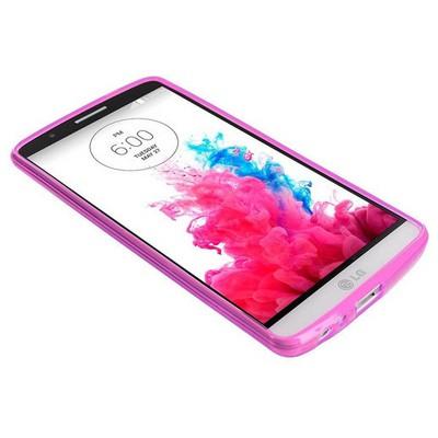 Microsonic Transparent Soft Lg G3 Kılıf Pembe Cep Telefonu Kılıfı