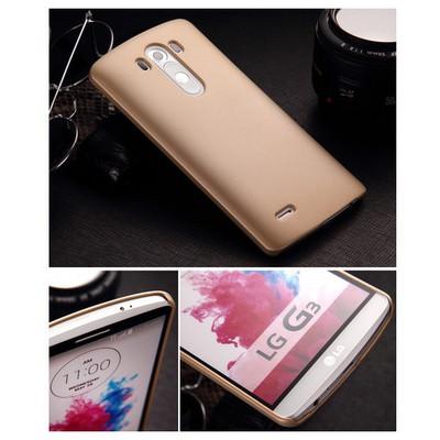Microsonic Premium Slim Kılıf Lg G3 Gold Cep Telefonu Kılıfı