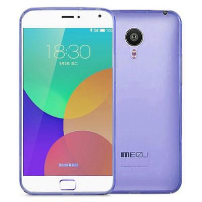 Microsonic Transparent Soft Meizu Mx4 Pro Kılıf Mavi Cep Telefonu Kılıfı