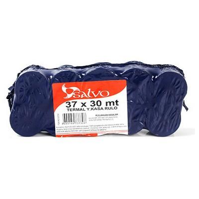 Salvo 37x30 Mt Termal Yazar Kasa Rulosu 10'lu Paket Rulo Kağıt