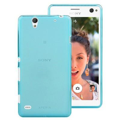 Microsonic Sony Xperia C4 Kılıf Transparent Soft Mavi Cep Telefonu Kılıfı
