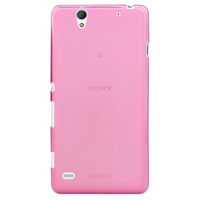Microsonic Sony Xperia C4 Kılıf Transparent Soft Pembe Cep Telefonu Kılıfı