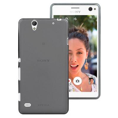 Microsonic Sony Xperia C4 Kılıf Transparent Soft Siyah Cep Telefonu Kılıfı
