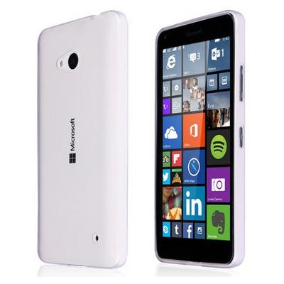 Microsonic Microsoft Lumia 640 Kılıf Transparent Soft Beyaz Cep Telefonu Kılıfı