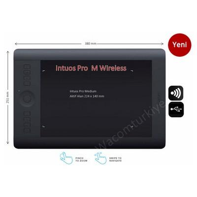 Wacom Pth-651-enes Intuos Pro M, En & Es Grafik Tablet