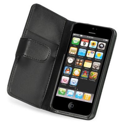 Microsonic Iphone 5 & 5s Wallet Case Cüzdanlı Deri Kılıf - Siyah Cep Telefonu Kılıfı