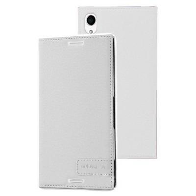 Microsonic Sony Xperia M4 Aqua Kılıf Gizli Mıknatıslı Delux Beyaz Cep Telefonu Kılıfı