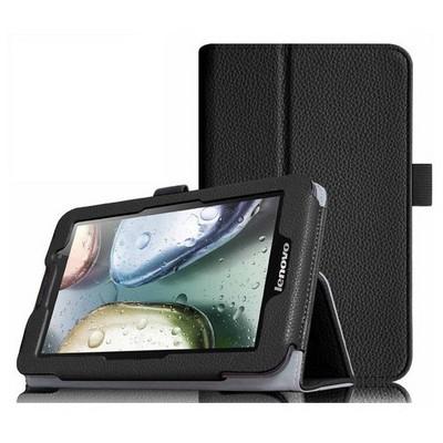 Microsonic Lenovo Ideatab A3000 7'' Tablet Kickstand Deri Kılıf Siyah Tablet Kılıfı