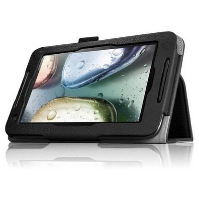 Microsonic Lenovo Ideatab A1000 7'' Tablet Kickstand Deri Kılıf Siyah Tablet Kılıfı