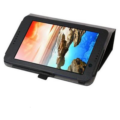 Microsonic Lenovo A3500 A7-50 Tablet Kickstand Deri Kılıf Siyah Tablet Kılıfı
