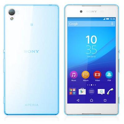 Microsonic Sony Xperia Z3+ Plus Kılıf Transparent Soft Mavi Cep Telefonu Kılıfı