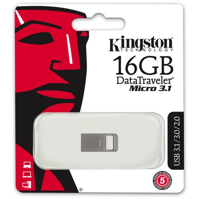 Kingston 16GB DataTraveler Micro 3.1 DTMC3/16 USB 3.0 USB Bellek