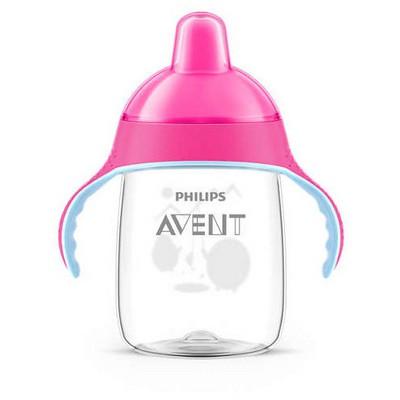 Philips Avent Philips Scf755/07 Penguen Damlatmaz Alıştırma Bardağı 18m 340 Ml Pembe Bebek Besleme