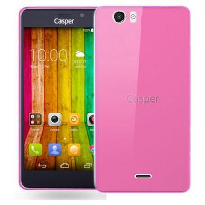 Microsonic Casper Via V6 Kılıf Transparent Soft Pembe Cep Telefonu Kılıfı