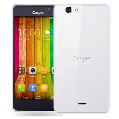 Microsonic Casper Via V6 Kılıf Transparent Soft Beyaz Cep Telefonu Kılıfı
