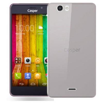 Microsonic Casper Via V6 Kılıf Transparent Soft Siyah Cep Telefonu Kılıfı
