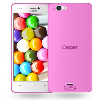 Microsonic Casper Via V8c Kılıf Transparent Soft Pembe Cep Telefonu Kılıfı
