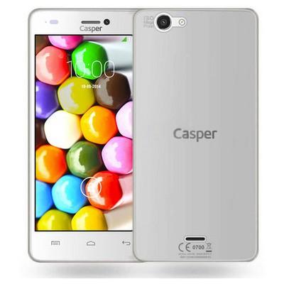 Microsonic Casper Via V8c Kılıf Transparent Soft Beyaz Cep Telefonu Kılıfı