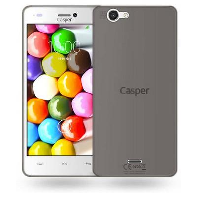 Microsonic Casper Via V8c Kılıf Transparent Soft Siyah Cep Telefonu Kılıfı