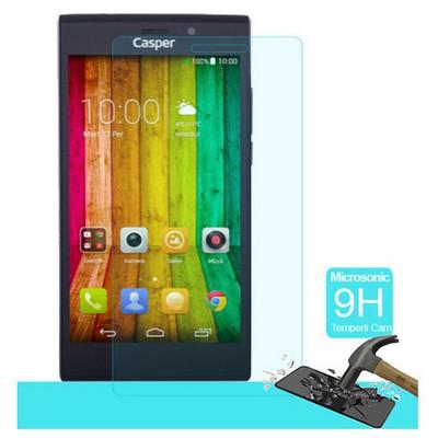 Microsonic Casper Via V6 Temperli Cam Ekran Koruyucu Kırılmaz Film Ekran Koruyucu Film