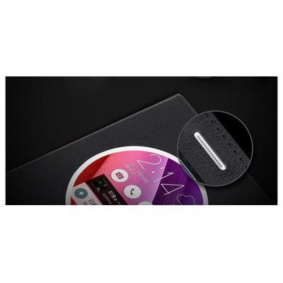 Microsonic Circle View Slim Deri Asus Zenfone 2 (5.5'') Kılıf Akıllı Beyaz Cep Telefonu Kılıfı