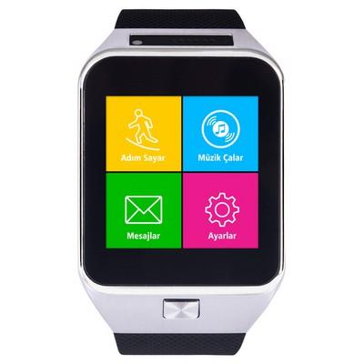 "Quadro Smart Watch S71 1.54"" 450mAH Kameralı Akıllı Saat Siyah Akıllı Saat & VR Gözlük"