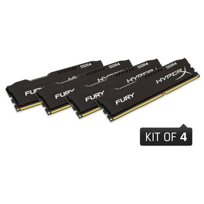 Kingston HyperX Fury 4x4GB Bellek - HX426C15FBK4/16