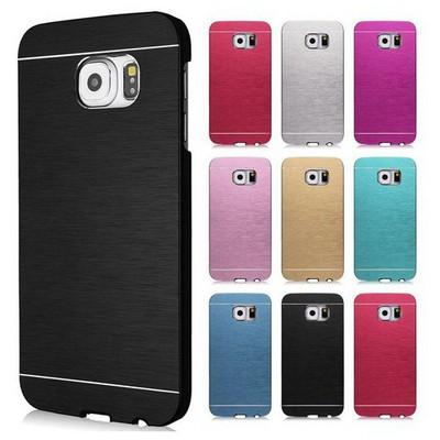 Microsonic Samsung Galaxy S6 Kılıf Hybrid Metal Kırmızı Cep Telefonu Kılıfı