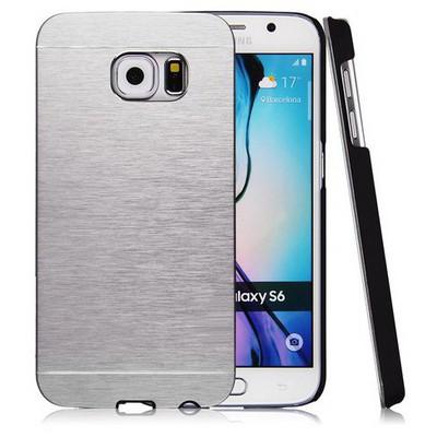 Microsonic Samsung Galaxy S6 Kılıf Hybrid Metal Gümüş Cep Telefonu Kılıfı