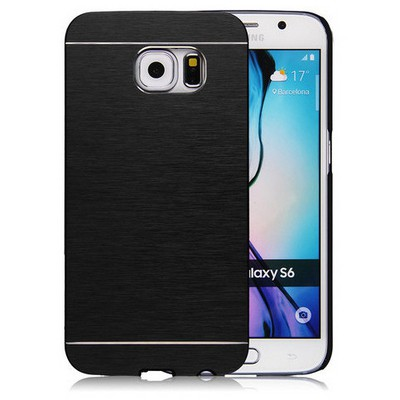 Microsonic Samsung Galaxy S6 Kılıf Hybrid Metal Siyah Cep Telefonu Kılıfı