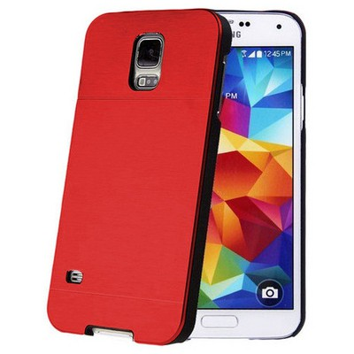 Microsonic Samsung Galaxy S5 Mini Kılıf Hybrid Metal Kırmızı Cep Telefonu Kılıfı