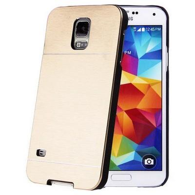 Microsonic Samsung Galaxy S5 Mini Kılıf Hybrid Metal Gold Cep Telefonu Kılıfı