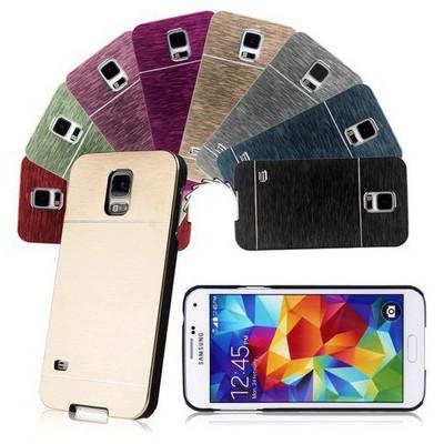 Microsonic Samsung Galaxy S5 Mini Kılıf Hybrid Metal Gümüş Cep Telefonu Kılıfı