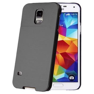 Microsonic Samsung Galaxy S5 Mini Kılıf Hybrid Metal Siyah Cep Telefonu Kılıfı
