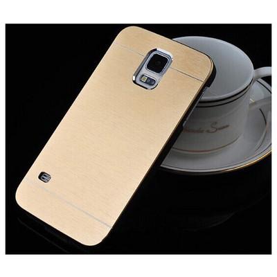 Microsonic Samsung Galaxy S5 Kılıf Hybrid Metal Gold Cep Telefonu Kılıfı