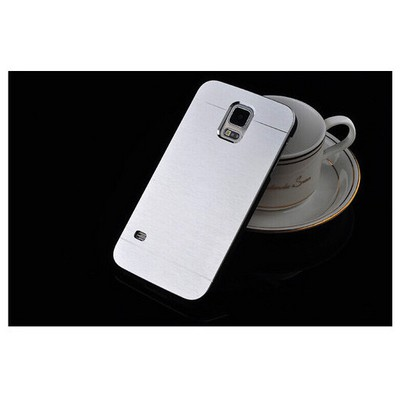 Microsonic Samsung Galaxy S5 Kılıf Hybrid Metal Gümüş Cep Telefonu Kılıfı